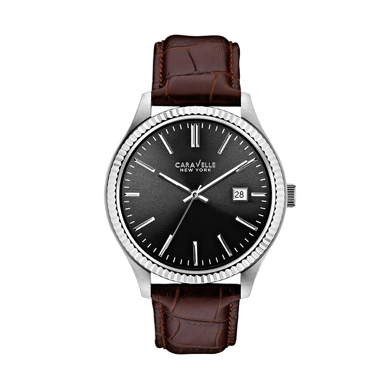 Caravelle New York by Bulova Men's Leather Watch - 43B132