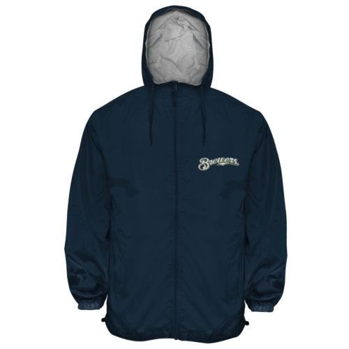 Big & Tall Milwaukee Brewers Hooded Wind Jacket