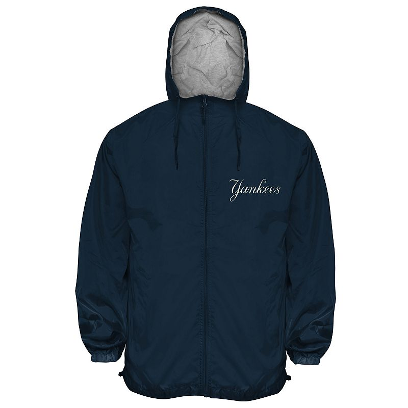 Big & Tall New York Yankees Hooded Wind Jacket