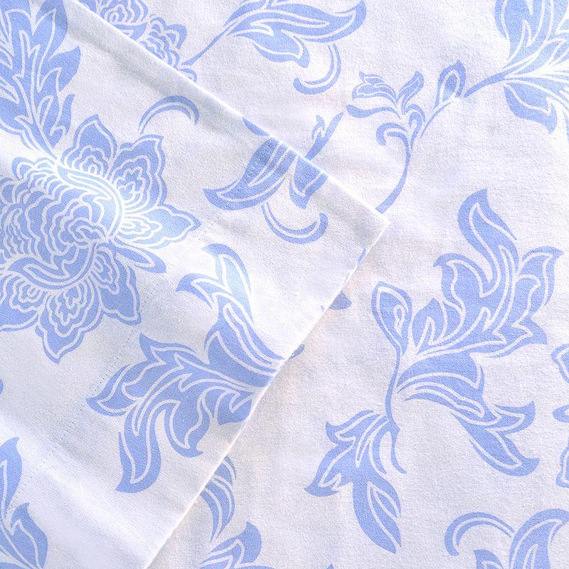 Celeste Home Corsage Flannel Sheet Set - Queen