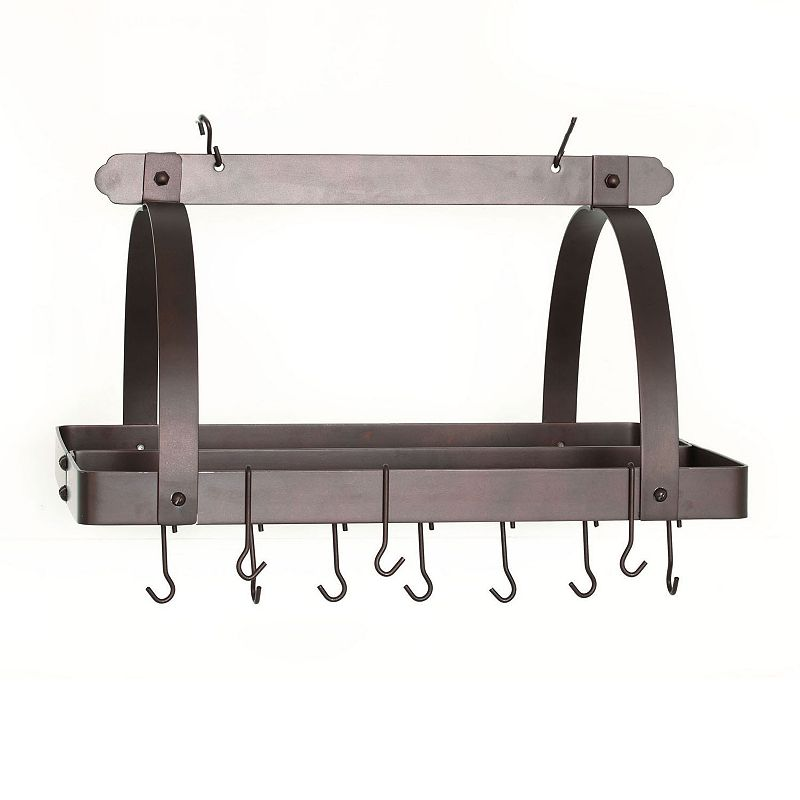 Old Dutch Oiled Bronze Hanging Rectangular Pot Rack