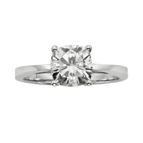 Forever Brilliant Cushion-Cut Lab-Created Moissanite Engagement Ring in 14k White Gold (2 ct. T.W.)