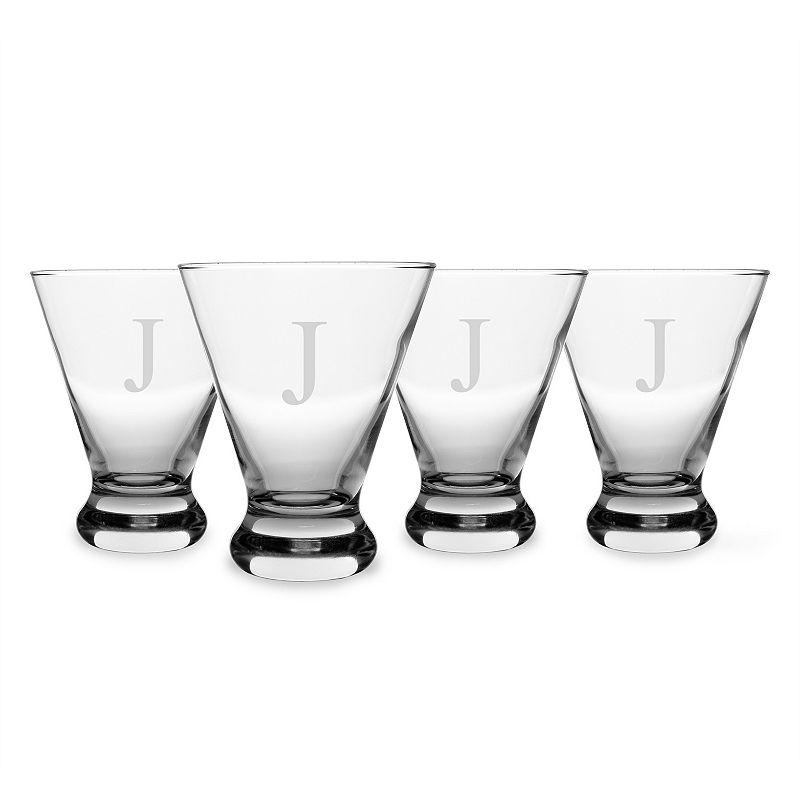 Cathy's Concepts 4-pc. Monogram Cosmopolitan Glass Set