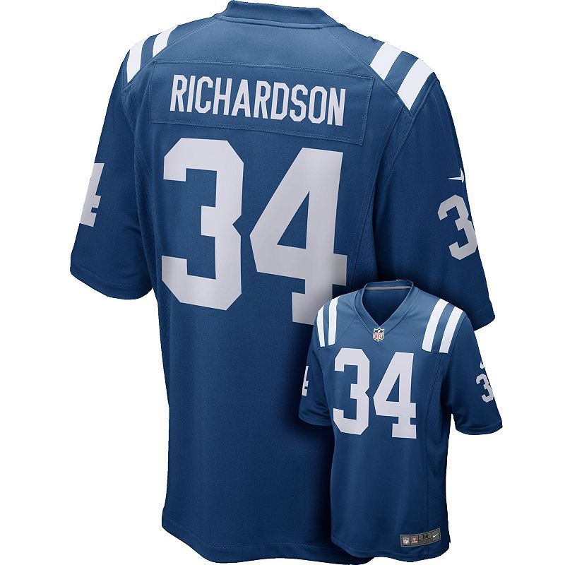 Men's Nike Indianapolis Colts Trent Richardson Game NFL Replica Jersey