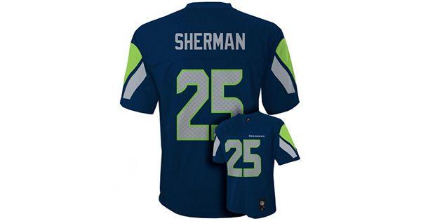 Boys 8 20 Seattle Seahawks Richard Sherman Nfl Replica Jersey