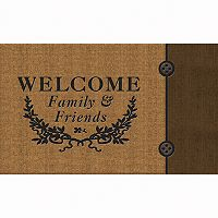 Apache Mills Masterpiece Welcome Crest Doormat - 18'' x 30''