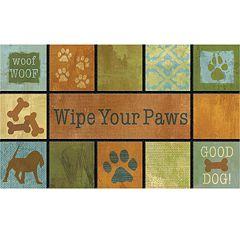 Apache Mills Masterpiece Woof Woof Doormat 18