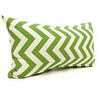 Majestic Home Goods Chevron Indoor Outdoor Small Decorative Pillow