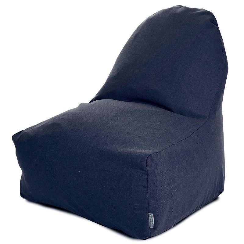 Majestic Home Goods Solid Indoor Outdoor Kick It Bean Bag Chair