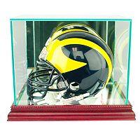 Perfect Cases Mini Football Helmet Display Case - Cherry Finish