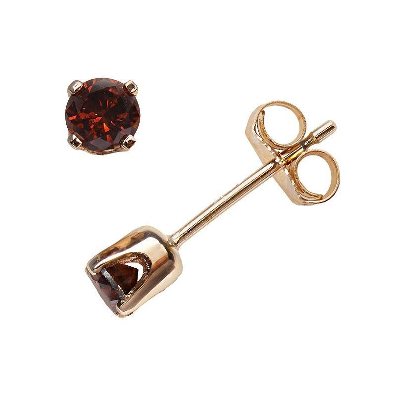 14k Gold 1/3-ct. T.W. Cherry Berry Diamond Stud Earrings