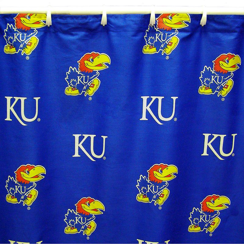 College Covers Kansas Jayhawks Printed Shower Curtain Cover