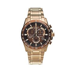 Citizen Eco-Drive Men's Perpetual Calendar A-T Stainless Steel Chronograph Watch AT4106-52X