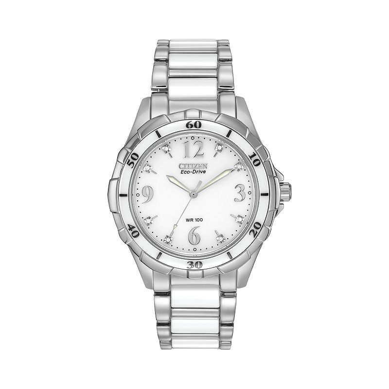 Citizen Eco-Drive Women's Ceramic & Stainless Steel Watch - EM0030-59A