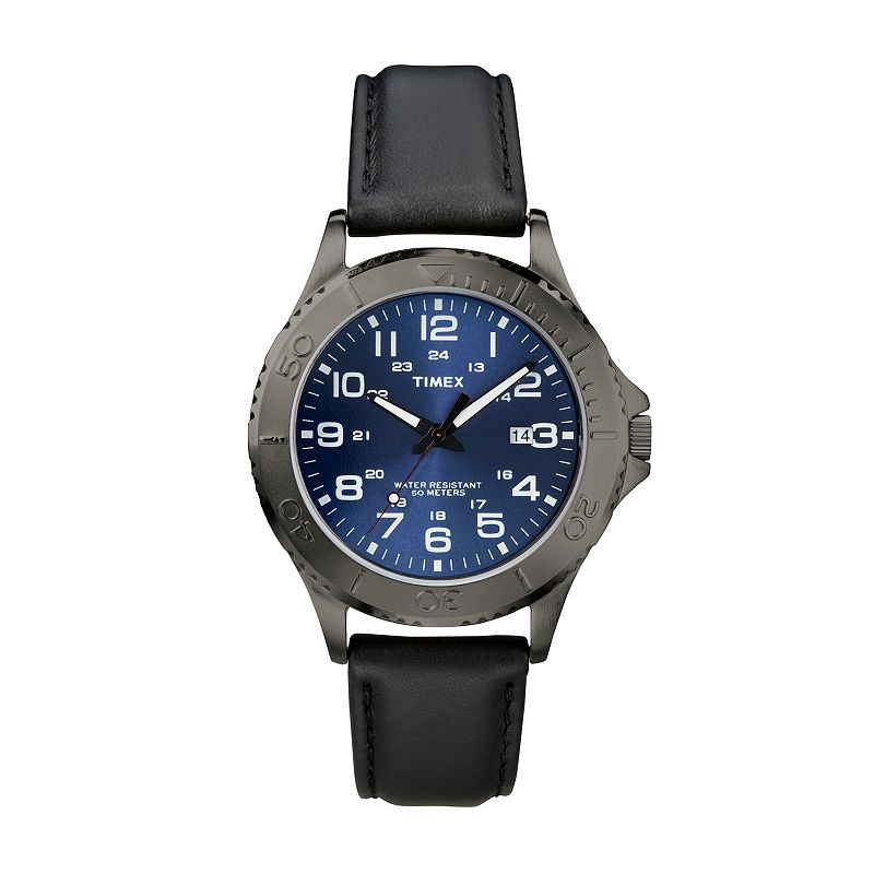 Timex Men's Leather Watch - T2P392KZ
