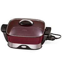 Presto 12-in. Covered Nonstick Electric Foldaway Skillet