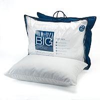 2-Pack.The Big One Gel Memory Foam Bed Pillows (Standard/Queen)