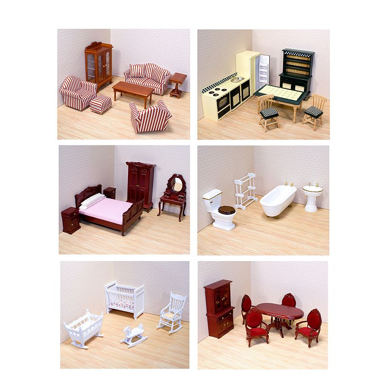 Melissa and Doug Victorian Dollhouse Furniture Bundle