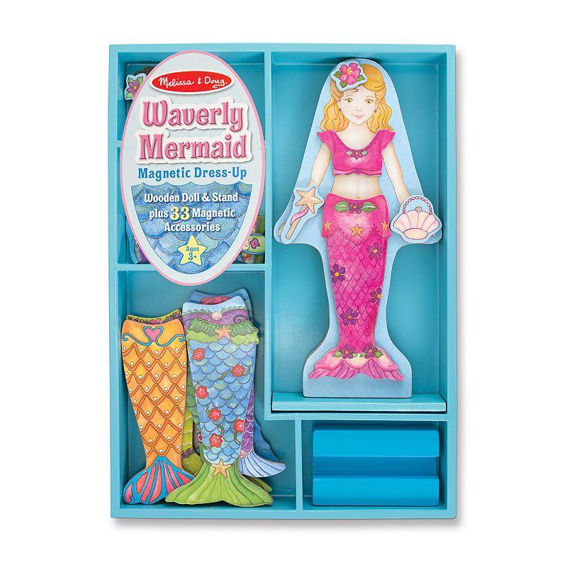 Melissa and Doug Waverly Mermaid Magnetic Dress-Up Doll