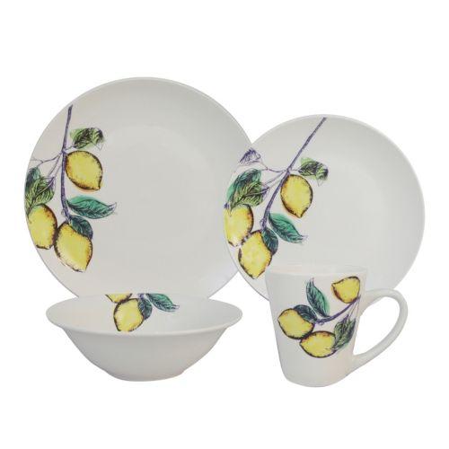 SONOMA life + style® Coupe Yellow 16-pc. Dinnerware Set