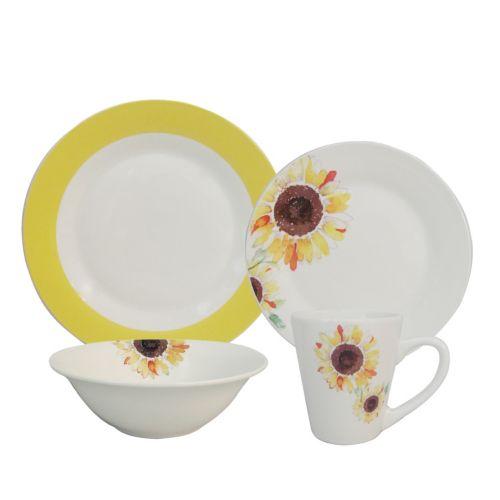 SONOMA life + style® Rim Sunflower 16-pc. Dinnerware Set