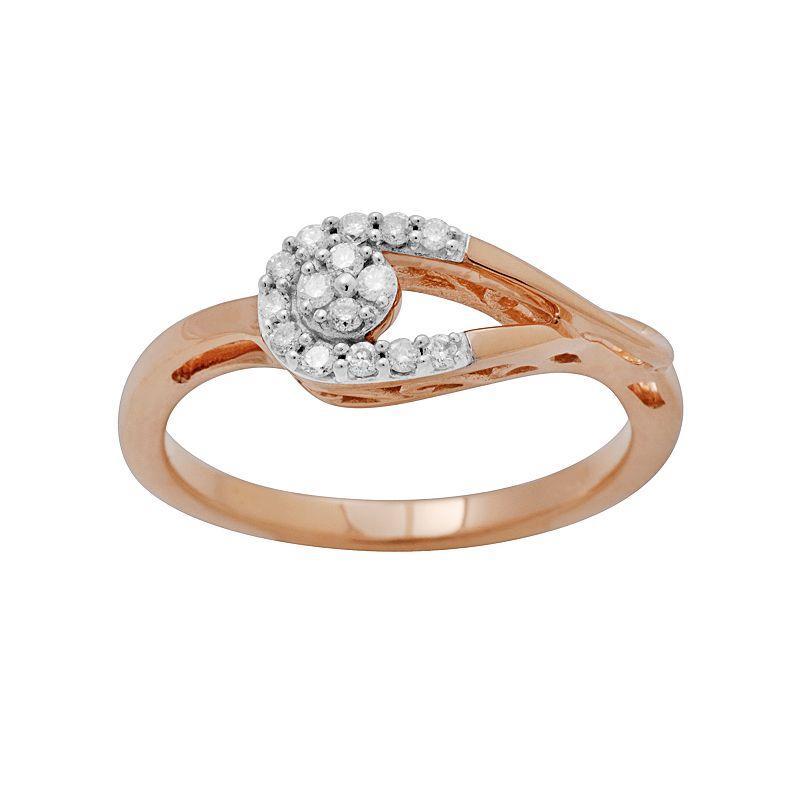 10k Rose Gold 1/7-ct. T.W. Diamond Ring