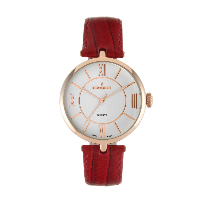 Peugeot Women's Leather Watch, Pink thumbnail