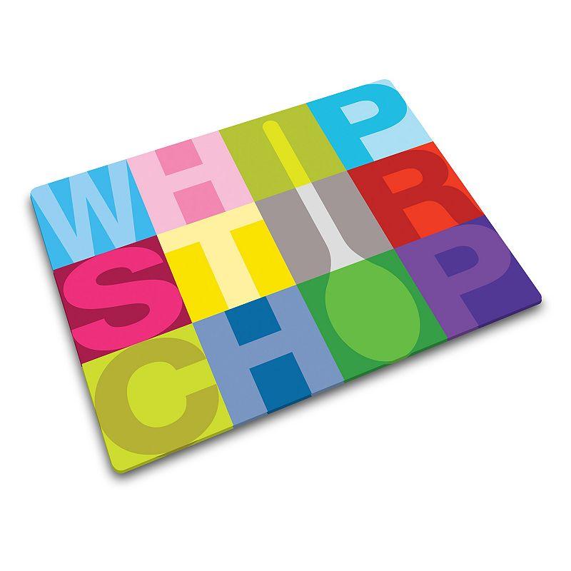 Joseph Joseph Whip Stir Chop Glass Chopping Board