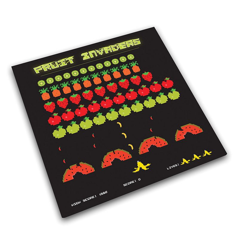 Joseph Joseph Fruit Invaders Glass Chopping Board