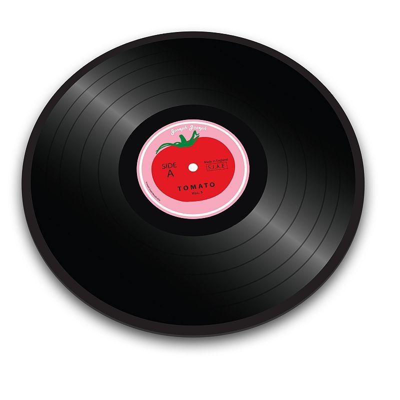 Joseph Joseph Tomato Vinyl Record Glass Chopping Board