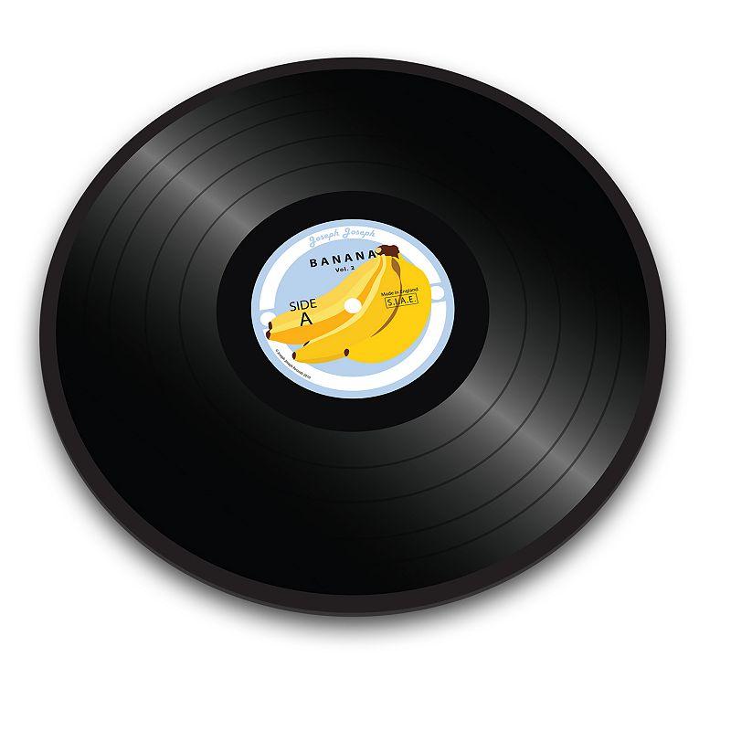 Joseph Joseph Banana Vinyl Record Glass Chopping Board