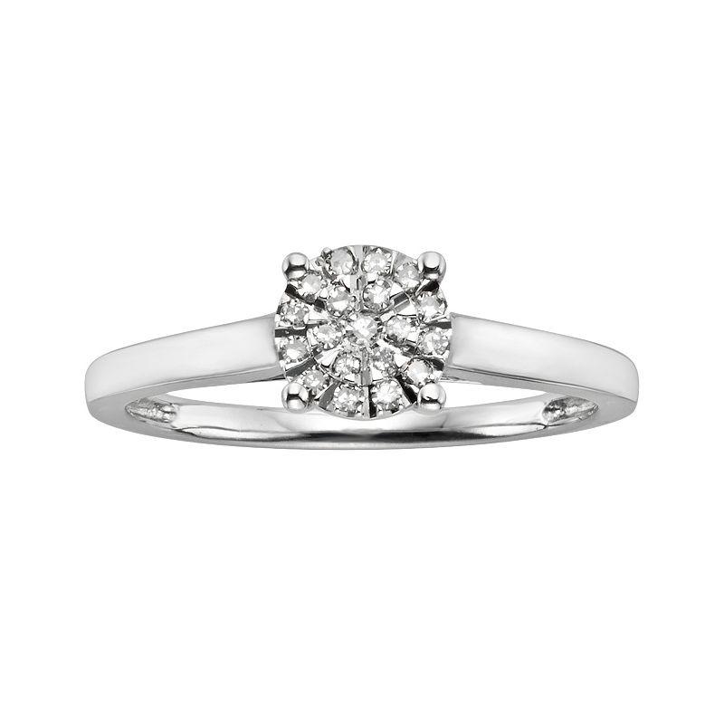 Diamond Brilliance Sterling Silver 1/8-ct. T.W. Diamond Ring