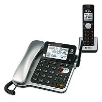 AT&T DECT 6.0 Corded Cordless Phone Combo Answering System with Caller ID