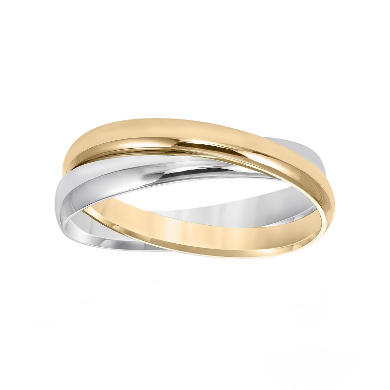 Cherish Always Yellow Ion-Plated Stainless Steel and Stainless Steel Double Band - Men