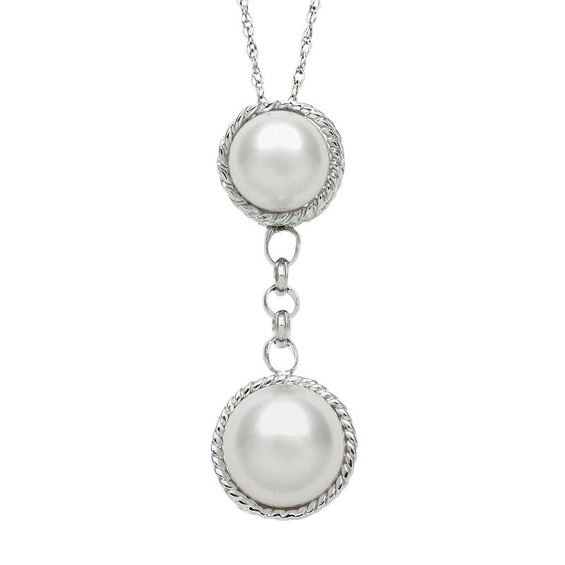 Sterling Silver Freshwater Cultured Pearl Drop Pendant