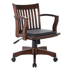 Office Star Products Deluxe Padded Banker's Chair by