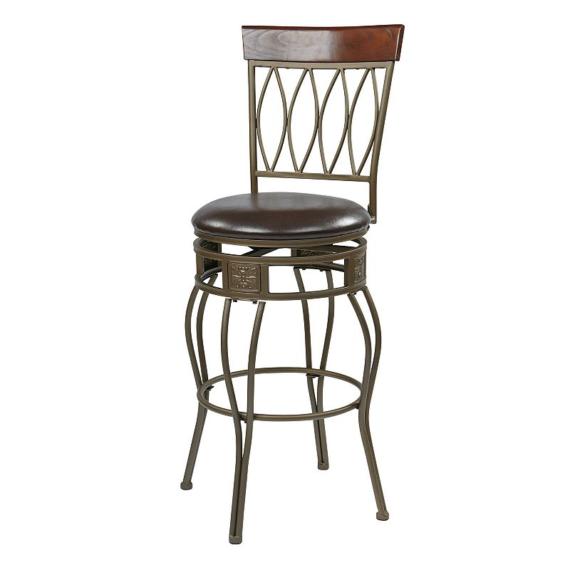 Office Star Products Cosmo Swivel Bar Stool
