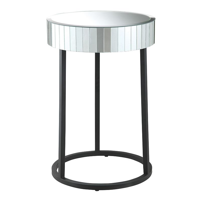 Office Star Products Krystal Mirror Accent Table