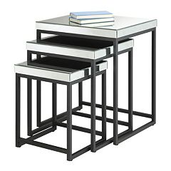 Office Star Products Krystal 3-pc. Mirror Table Set by