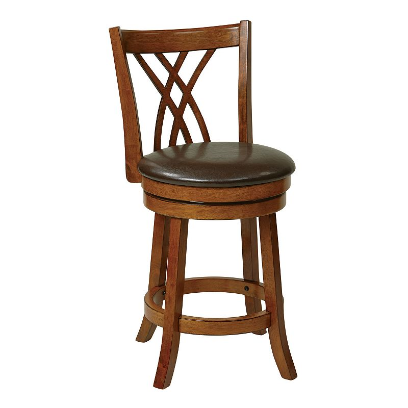 Office Star Products 24-in. Swivel Bar Stool