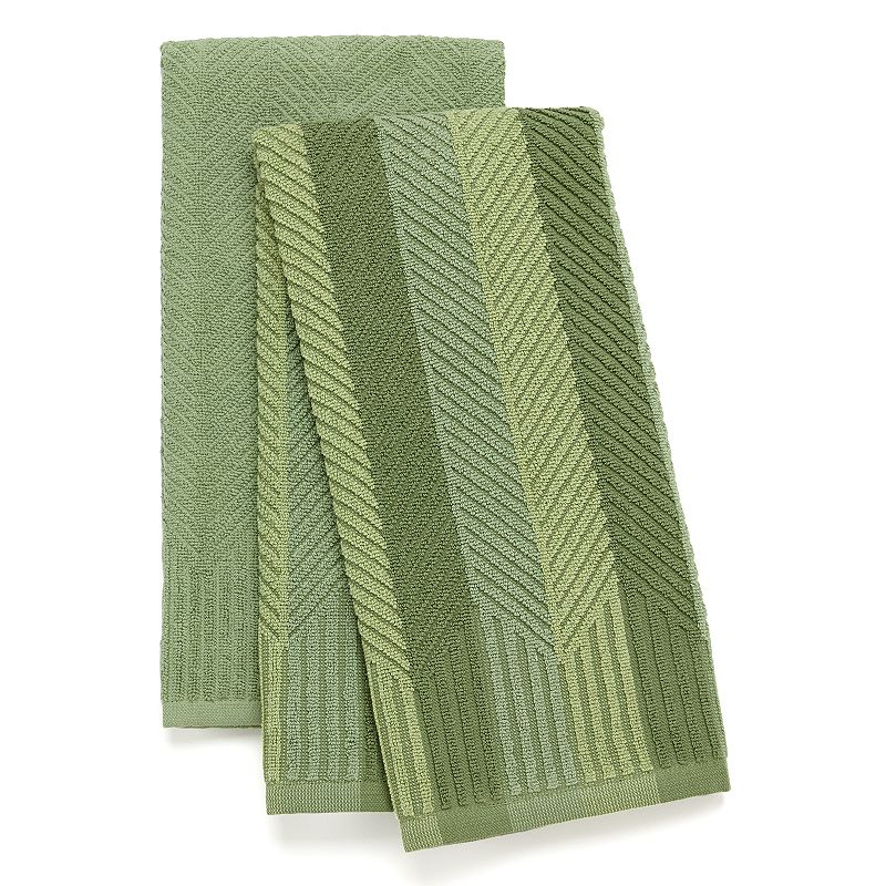 Food Network™ 2-pk. Sculpted Antimicrobial Kitchen Towels