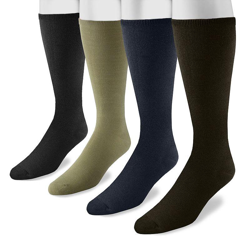 Men's MUK LUKS 4-pk. Rayon From Bamboo Knee-High Socks