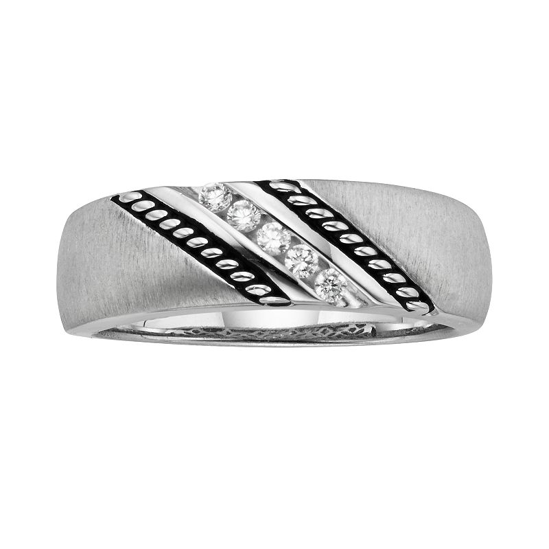 Platina 4 1/7-ct. T.W. Diamond Wedding Band - Men
