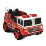 National Products 12V Fire Engine Ride-On, Red