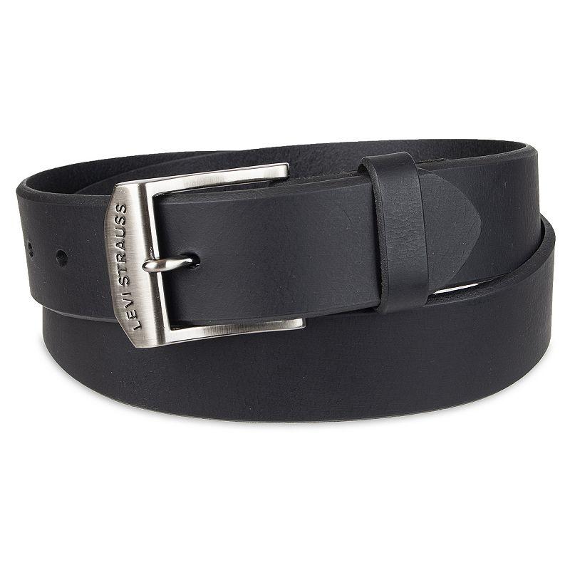 Men's Levi's Logo Buckle Leather Belt