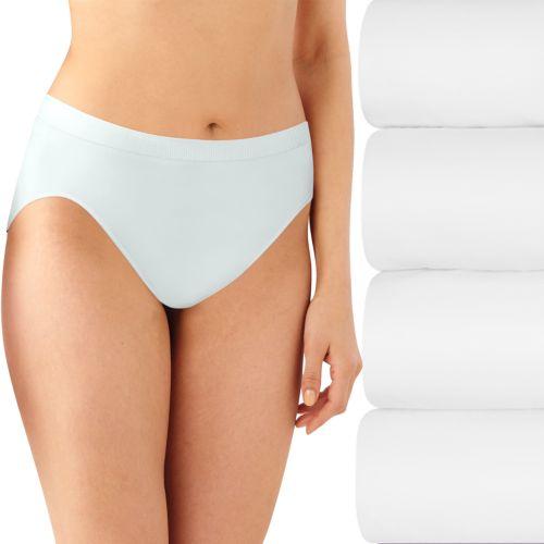 Bali 4-pk. Comfort Revolution Seamless Microfiber Hi-Cut Briefs K783 - Women's
