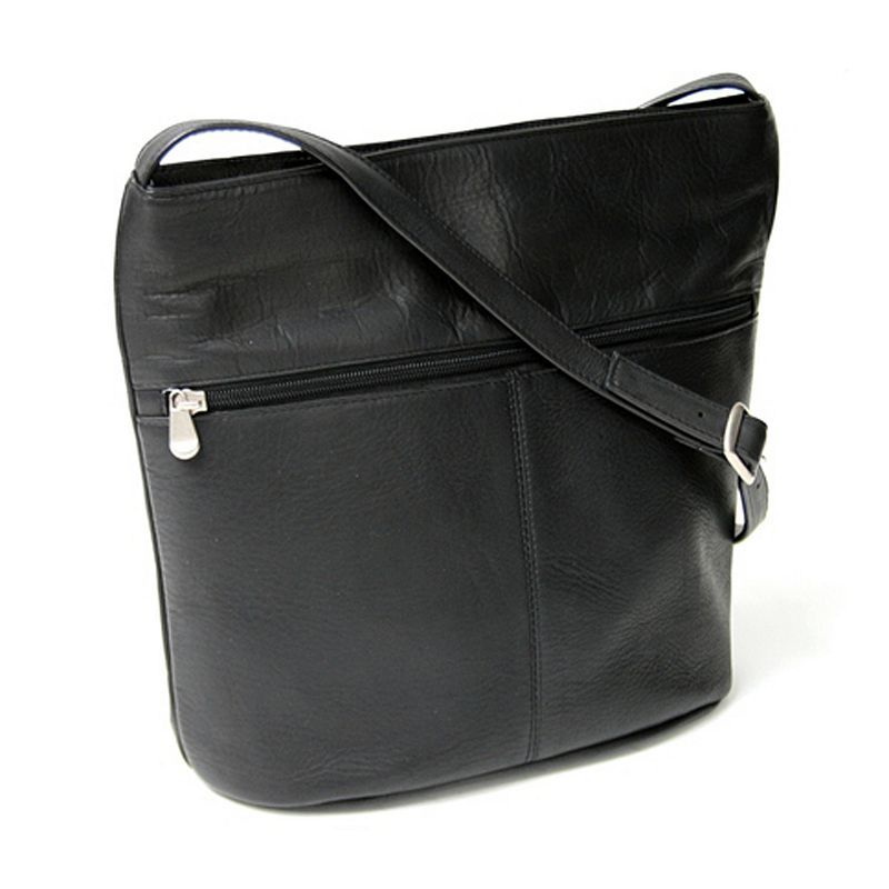 Royce Leather Vaquetta Black Shoulder Bag