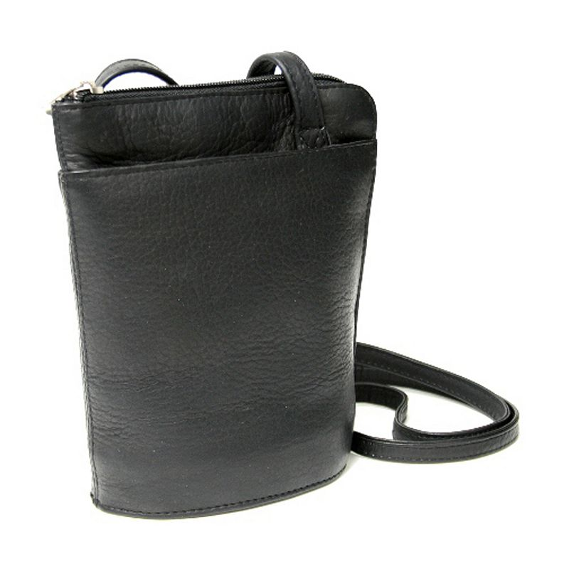 Royce Leather Vaquetta Petite L-Zip Crossbody Bag