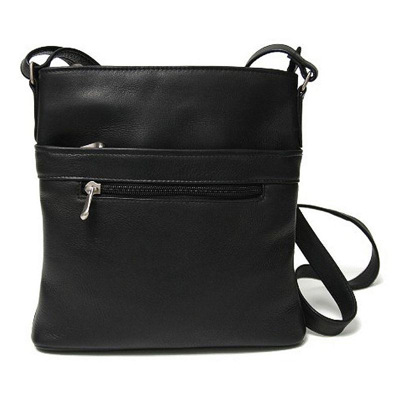 Royce Leather Vaquetta Triple-Zip Crossbody Bag