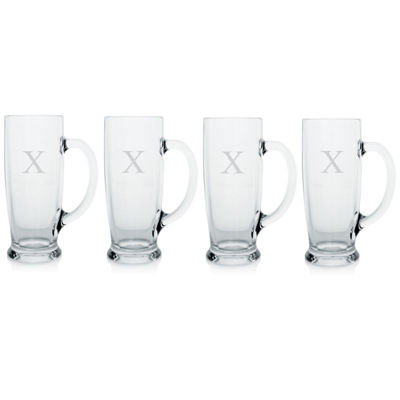 Cathy's Concepts Set of 4 Personalized Craft Beer Mugs 94867524